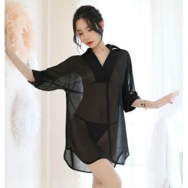 Black Soft & Simple Sexy Robe