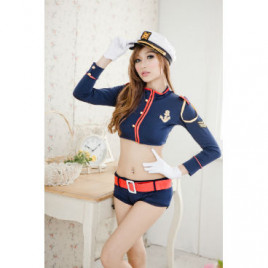 Fly Me Sexy Navy Costume