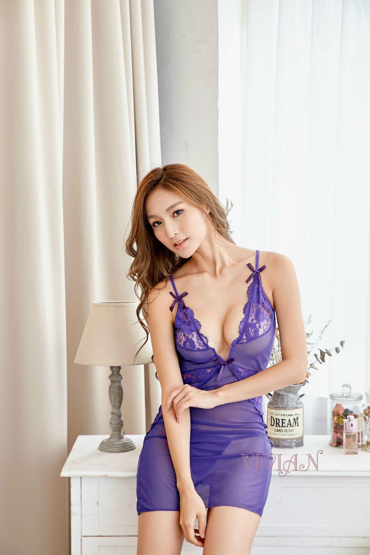 Purple Lace Chemise