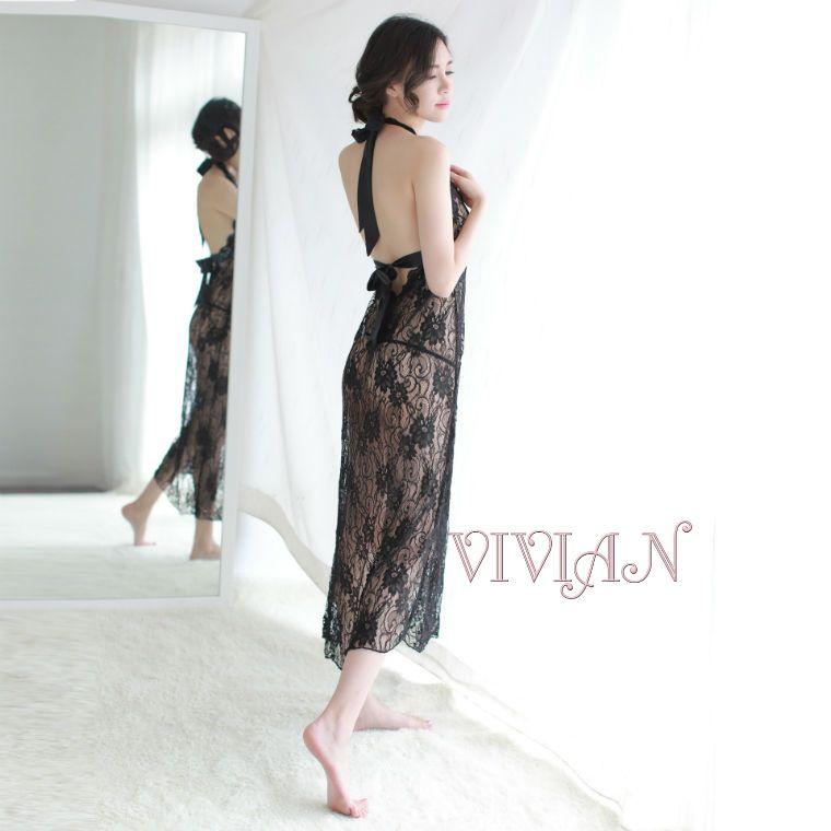 Black Lace Sexy Nightdress