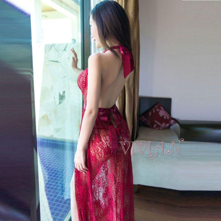 Red Lace Sexy Nightdress