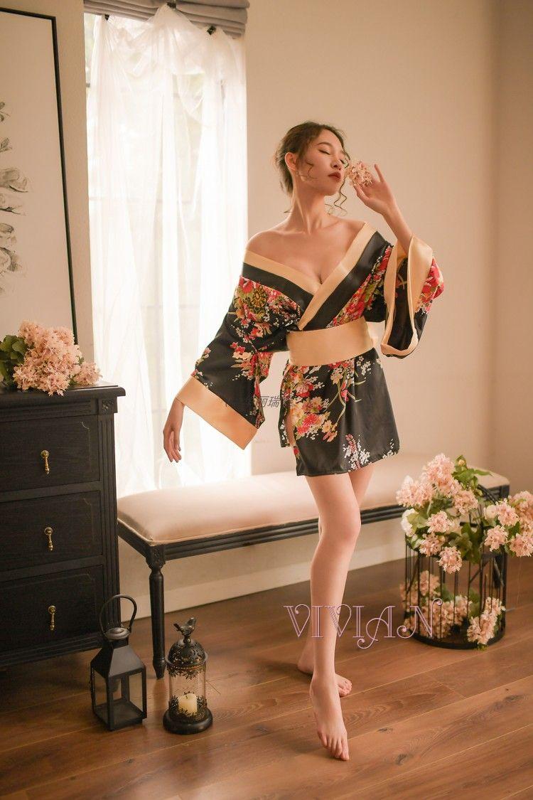 Black Kimono Costume Set
